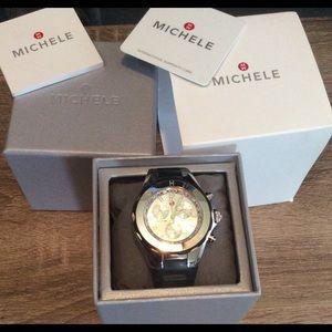 Michele Tahitian Jelly Watch W/Topaz